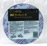 3M Foam Polishing Pad, Single Sided, Flat Back, 05725 Twin Pack