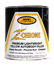 Clausen Z-Chrome, ZC-1, Premium Lightweight Yellow Body Filler. 102115, Quart