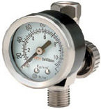 DeVilbiss HAV-501, Air Adjusting Valve with Gauge, 180006