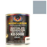 "HOK KD3000 Gallon Neutral Gray Primer Kit With Activator, Reducer, 8"" 40grit Sandpaper & Tack Rag"