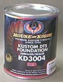 "HOK KD3004 4Quart Red Primer Kit With Activator, Reducer, 8"" 80grit Sandpaper & Tack Rag"