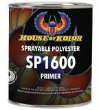 "House Of Kolor SP1600 Gallon of Sprayable Polyester Primer with Hardener, Tack Rag & MW 8"" PSA 80grit Sandpaper"